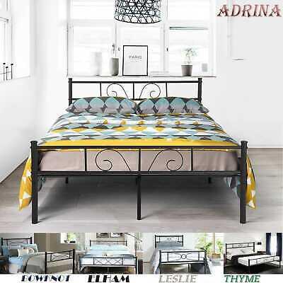 e958a6aba38f Platform Metal Bed Frame Foundation Headboard Furniture Bedroom Twin Full  Size