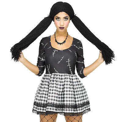 Womens Damaged Broken Rag Doll Halloween Zombie Ghost Fancy Dress Costume Outfit](Halloween Costume Rag Doll)