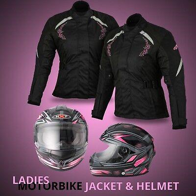 Ladies Motorbike Helmet Motorcycle Womens Scooter Waterproof Textile Jacket Coat Ladies Scooter Jacket