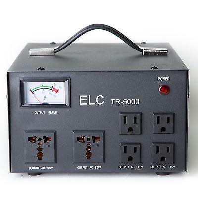 5000 Watt Heavy Duty Voltage Regulator Converter Transformer Step Up Down 5000W
