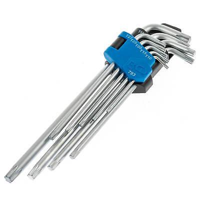 BGS 9x kurze TORX Winkelschlüssel T10-T50 Satz T-Profil mit Bohrung Torxsatz Set