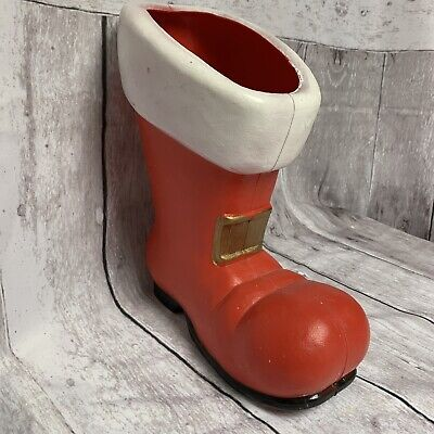 """Vintage Don Featherstone Christmas Santa Boot Blow Mold Union Products 1993 12"""""""