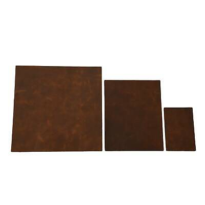 Rustic Medium Copper Chap Genuine Cowhide Leather Pre-cuts 3-4 oz Sheets Pieces Rustic Brown Leather 3 Piece