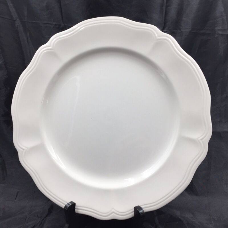Federalist Ironstone White Round Serving Platter or Cake Plate 12 Inch Wide 4238