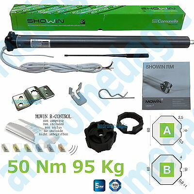 SHOWIN S45 W/REC 50N TUBULAR ACTUATOR ø45 50NM 230V + RADIO Roller shutters