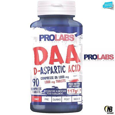 PROLABS DAA ácido D-aspártico 90 cpr + Vitamina B6 y zinc Testosterona...