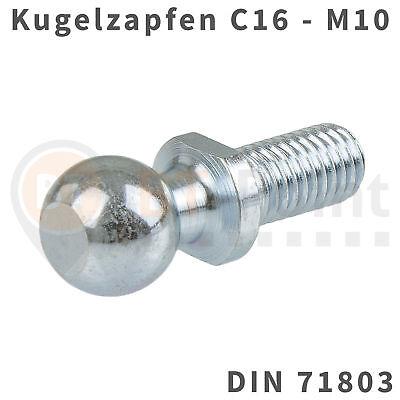 Winkel Ball (Kugelzapfen 16mm M10 DIN 71803 Kugelkopf Kugel Zapfen Kopf Gasfeder ball pivot)
