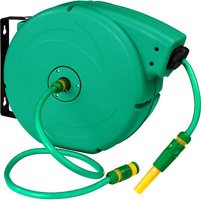 Garden Hose Pipe Reel Watering Pipe Garden Hose Pipe Wheel incl water nozzle 20m