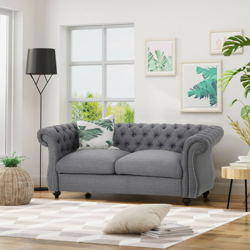 Kyle Traditional Chesterfield Loveseat Sofa