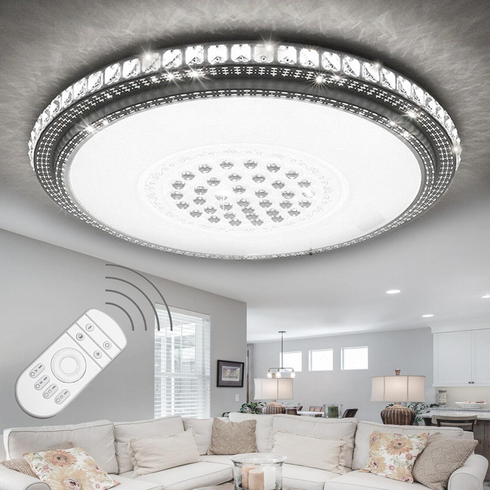 Profi Kristall LED Deckenleuchte Deckenlampe Dimmbar Wohnzimmerlampe Sternhimmel