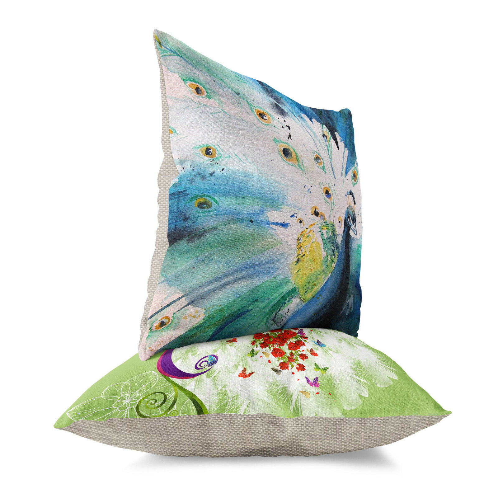 Oriental Chinese Style Colorful Peacock Flower Pillow Case Cushion Cover 18/'/'New
