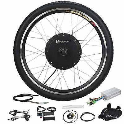 "1000W Electric E Bike Conversion Kit 26"" Front Wheel Motor Bicycle Hub 48V"