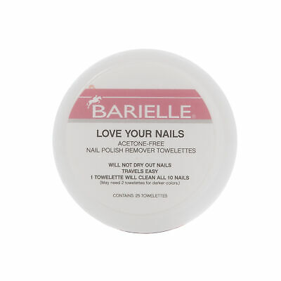 Barielle Love Your Nails - Acetone Free Nail Polish Remover Towelettes 40-Count Acetone Free Nail Polish Remover
