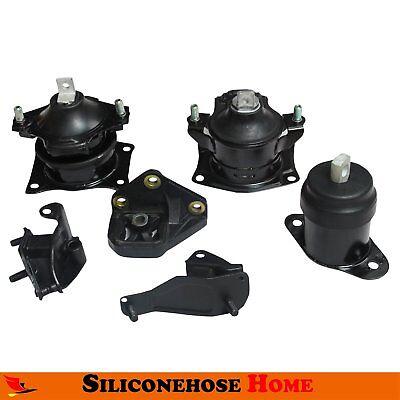 6PCS For 2003-2007 Honda Accord 2.4L Auto Engine Motor&Trans. Mount Set (Honda Accord Motor)