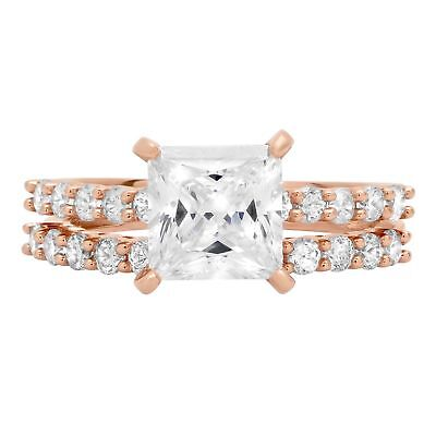 2.86 Princess Cut Promise Bridal Engagement Wedding Ring ...