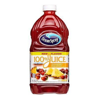 Ocean Spray 100% Juice, Cran-Pineapple, 60 Fl Oz, 3 Count - FAST FREE SHIP