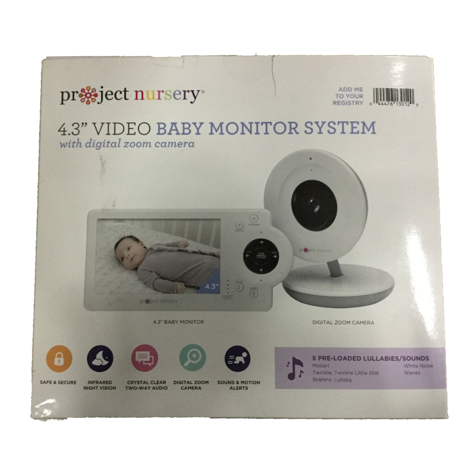 New Project Nursery Digital Zoom Video Monitor System PNM4N1