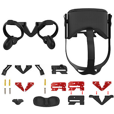 AMVR VR Wall Mount Stand Bracket for Oculus Quest VR Headset & Touch Controllers