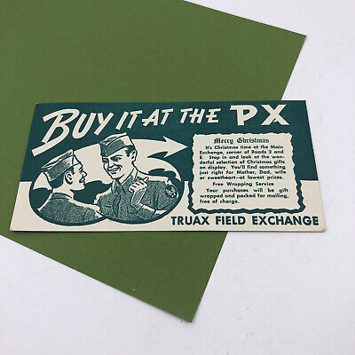 Vintage Truax Field Exchange Madison Wisconsin Air Force Base Ink Blotter