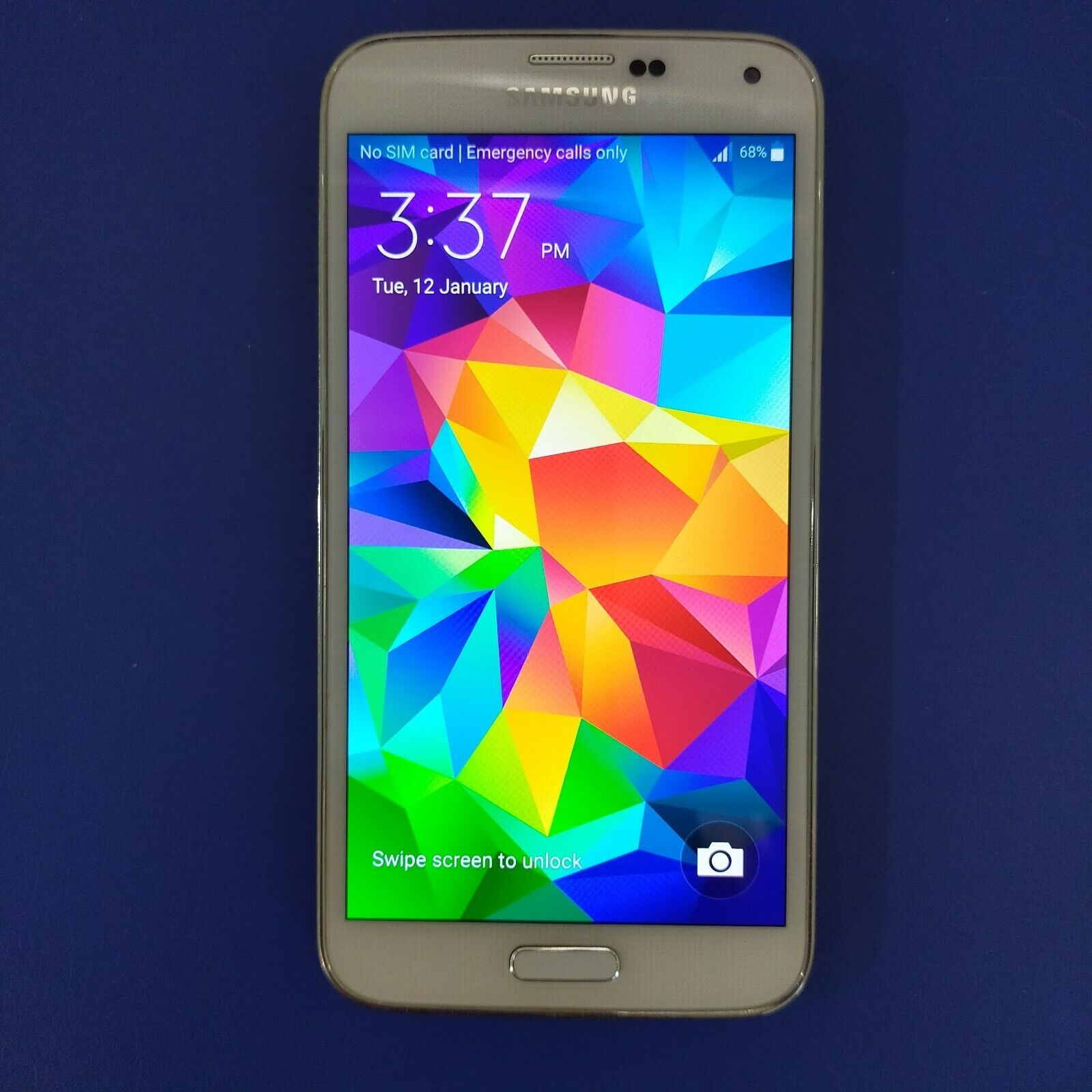 Android Phone - Samsung Galaxy S5 SM-G900I - Shimmery White 4G Smartphone