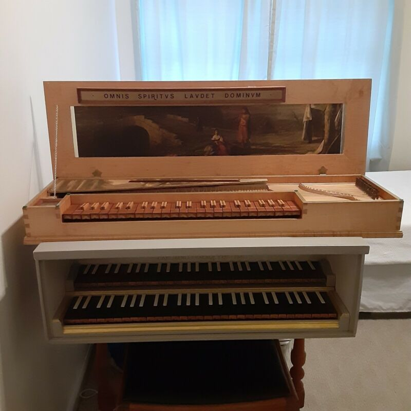 Custom built hand crafted fretted clavichord