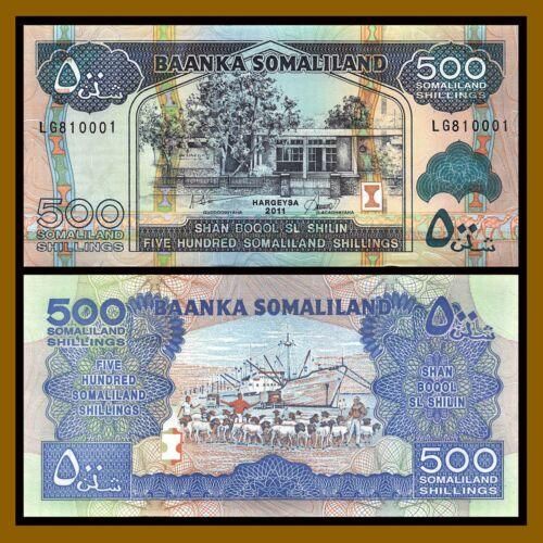 Somaliland 500 Shillings (Shilin), 2011 P-6h Unc