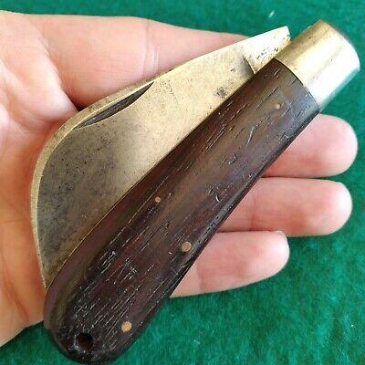 Vintage Antique Remington UMC R698 Wood Hawkbill Pruner Pocket Knife