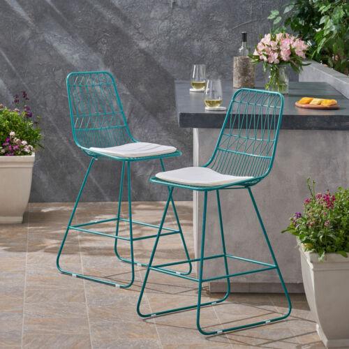 Hedy Outdoor Counter Stool (set of 2) Home & Garden
