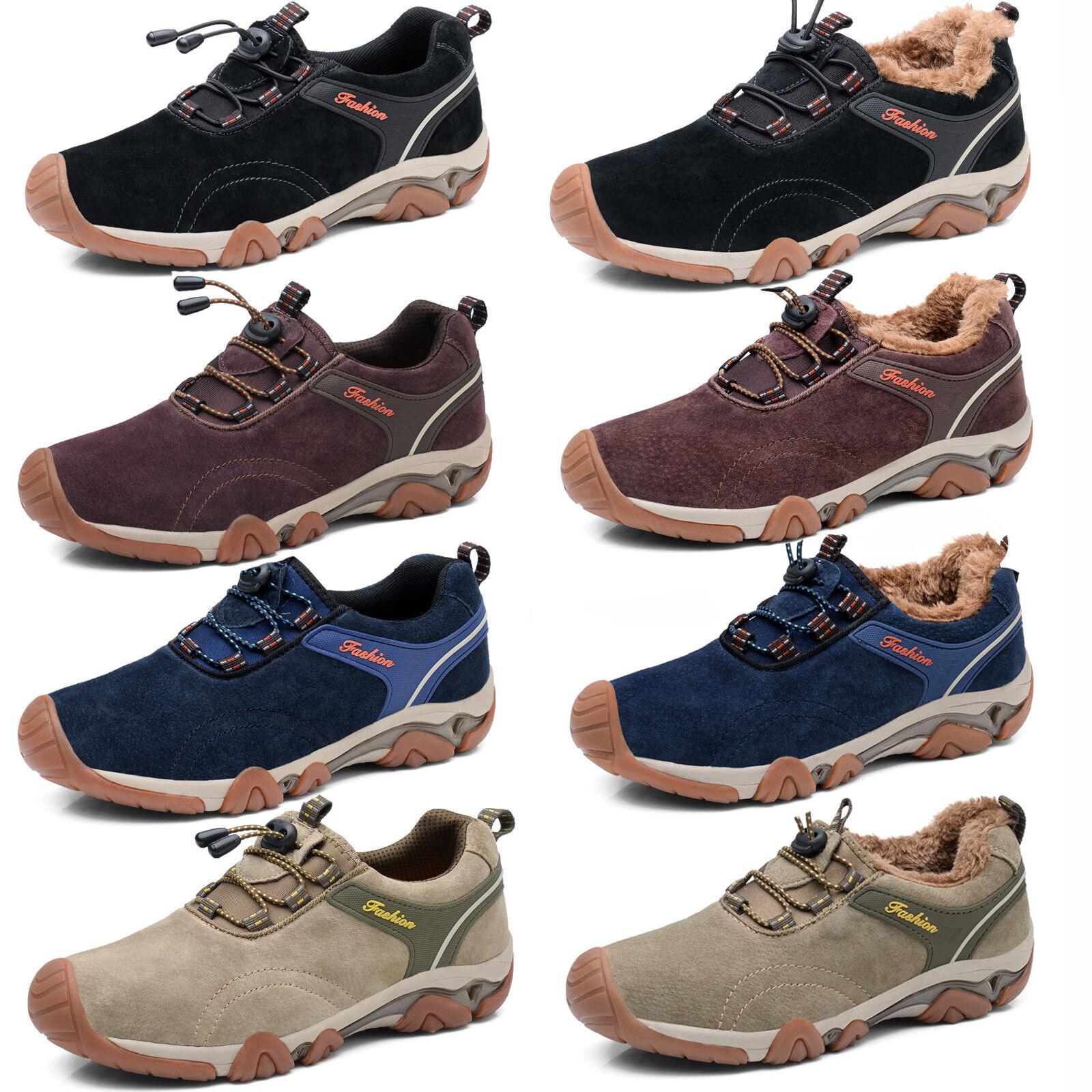 5adea50dbac Waterproof Men's Hiking Shoes Plush Winter Warm Trail Shoes Outdoors ...