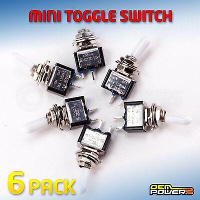 6 X Radioshack Spst Mini Toggle Switch 10a 125v 6a 250v 2750324 Bulk Pack New