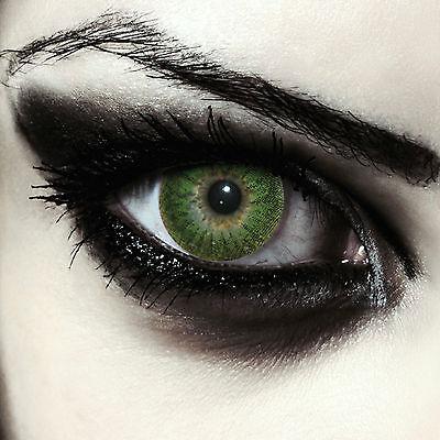 Grüne Werwolf Kontaktlinsen Funlinsen für Halloween Kostüm grün - Werwolf Kostüm Kontakte