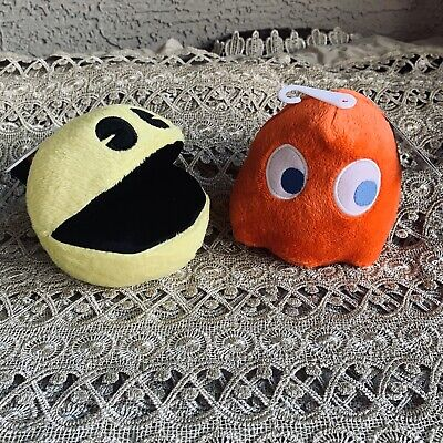 NWT 4'' Pac-man & Blinky Red Ghost Plush with Authentic Game Sound