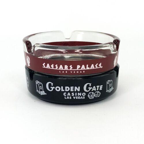 Lot of 2 Vintage Caesars Palace & Golden Gate Las Vegas Ashtrays Ashtray