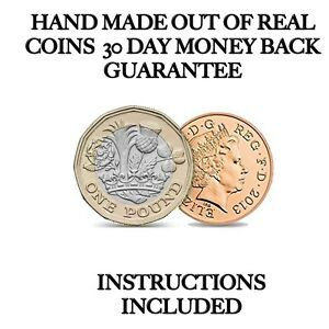 Pound and Penny Magic Trick NEW £1.00 Coin Unique Magic Trick Vanishing Penny