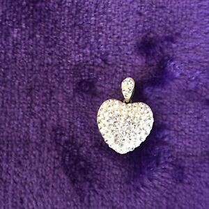 Silver heart charm for necklace