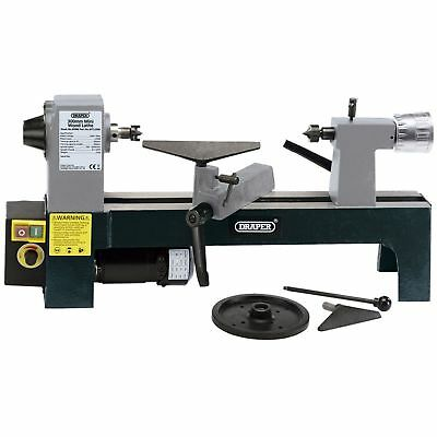 Draper 230v 250w Wood Turning Mini Lathe - Variable Speeds - Woodworking Tool
