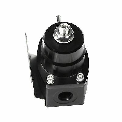SUPERFASTRACING Adjustable Injected Bypass Fuel Pressure Regulator 0-100 psi AN6 Universal Black