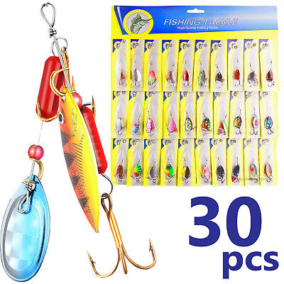 Lures Spinners - 3OT!Lot 30pcs Trout Spoon Metal Fishing Lures Spinner Baits Bass Tackle Colorful