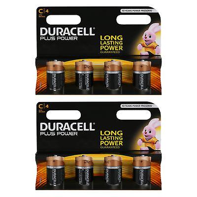 8 x Duracell Baby C Plus Power LR14 UM2 MN1400 Batterie 1,5V Alkaline 8 St Duracell Plus Power Batterie