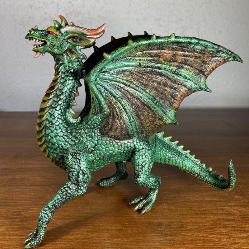 """Dragon Figure - Metallic Green Multicolor 7"""" Figure - Rubber / Plastic"""