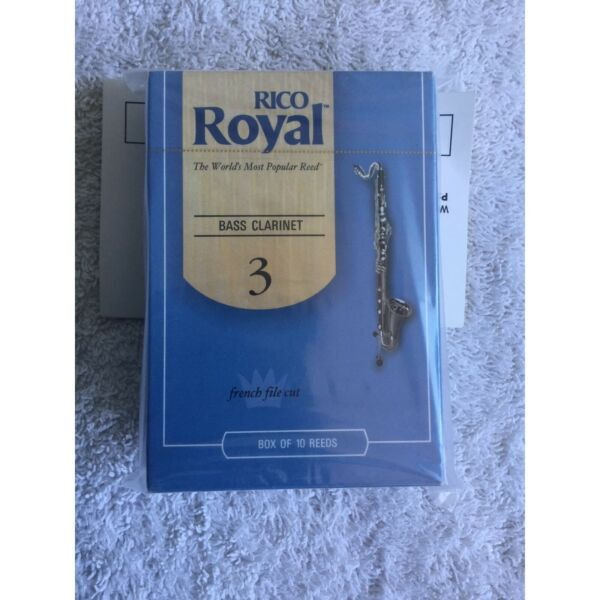 Unopened Box of Rico Royal 2 Bass Clarinet Reeds