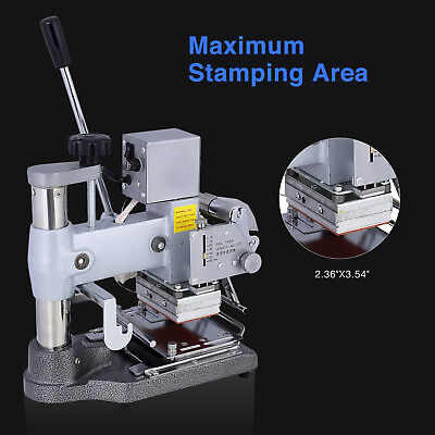 Manual Tipper Stamper Pvc Card Hot Foil Stamping Printing Machine