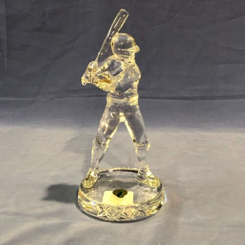 "WATERFORD LEAD CRYSTAL 8 1/2"" BASEBALL PLAYER Made In Germany"