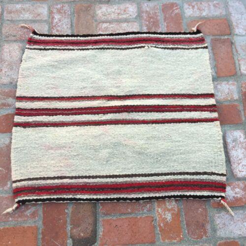 Native American Wool Saddle Blanket 32x29 Antique