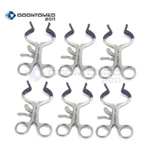 "6 Pieces Molt Mouth Gag Blue 3.5"" Pediatric Surgical Instruments"