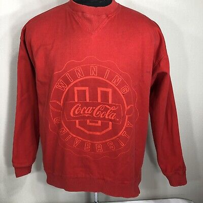 VTG Coke Sweatshirt Coca Cola Classic Crewneck 80s 90s University Large Kith Pop