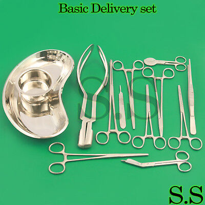 Delivery Set 16 Pcs Gyn Surgical Instruments Best Quality Ds-1130