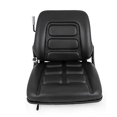 New Universal Vinyl Forklift Suspension Seat Fits Clark Cat Hyster Yale Toyota