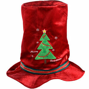 20cm Novelty Musical Animated Christmas Hat, Red