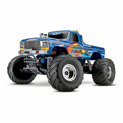 Traxxas Bigfoot RC Remote Control Monster Truck with TQ 2.4GHz Radio, 2WD, Blue